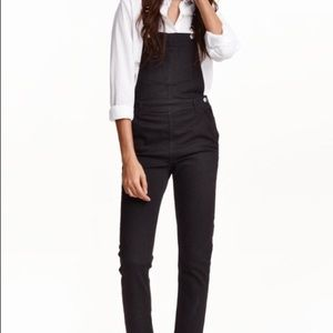 H&M Black Bib Overalls